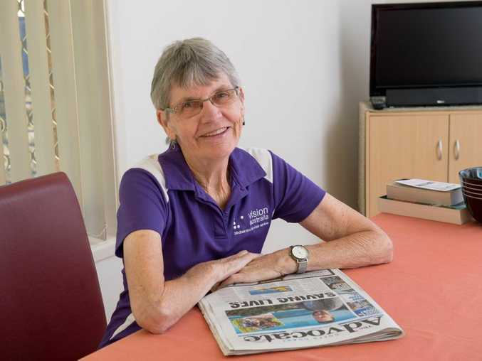 RECOGNITION: Vision Australia has thanked Julie Larsen for the newspaper reading service she offers the vision impaired on the Coffs Coast. Photo: Trevor Veale / Coffs Coast Advocate