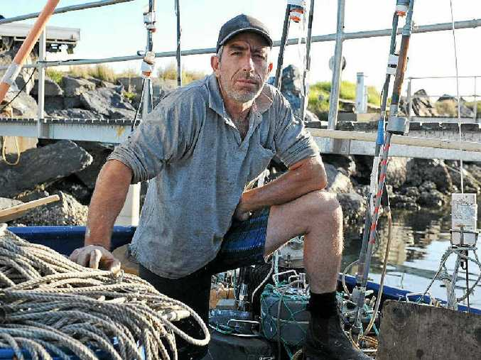HIGH AND DRY: Coffs Harbour fisherman Ross Pennisi has been grounded by new regulations imposed by the Australia Maritime and Safety Authority.