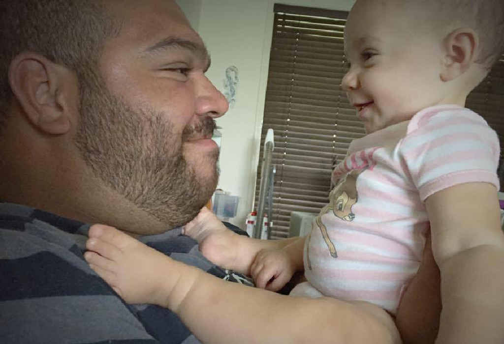 FOND MEMORY: Zane Purcell's baby girl Bonnie, pictured, and wife Rachael were the loves of his life.
