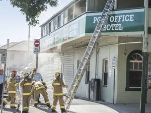 Fire rips through Post Office Hotel cellar