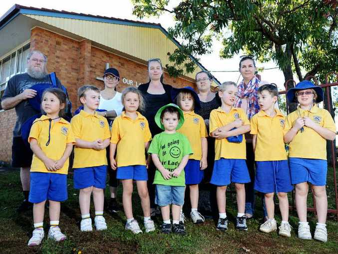 CLOSING ITS DOORS: Parents and students of Our Lady of Lourdes Infants School were informed last Monday that the school will be closed next year.