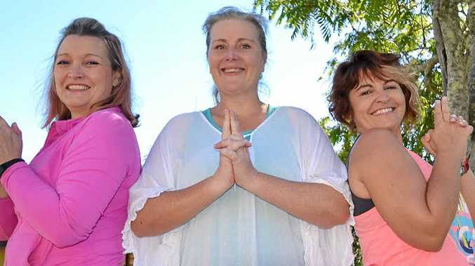 CHARLIE'S ANGELS: Local business owner, Leah Hobbs, Kyogle Mayor Danielle Mulholland and Express Examiner editor Samantha Elley walking to help others.