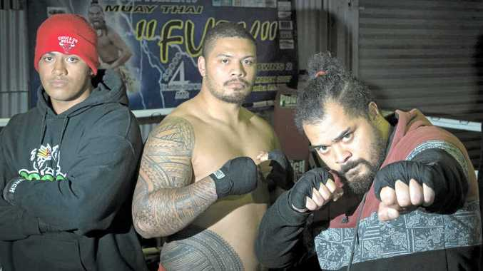 BRUISE BROTHERS: Muay Thai fighters (from left) Junior, Justin, and Gerard Milo will all fight on the same card this Saturday night.