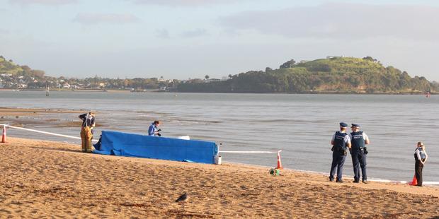 Body on Mission Bay Beach. Photo / Daniel Hines