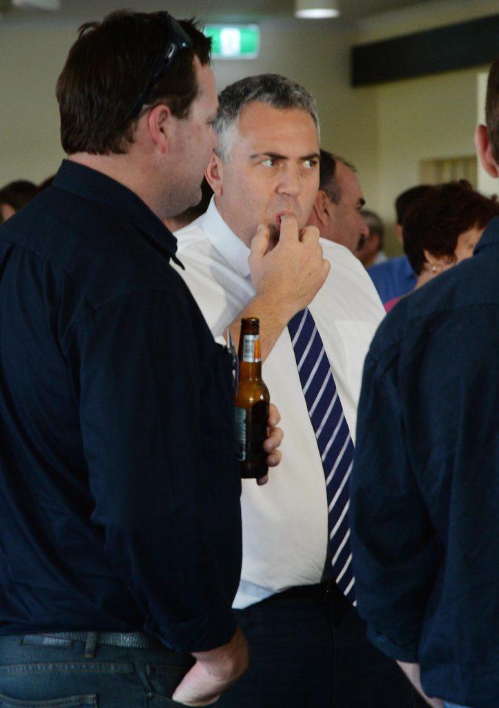 Treasurer Joe Hockey during his visit to Mackay