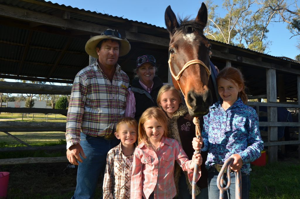 Image for sale: MOTHER'S DAY: Greg and Amanda Day celebrate mother's day campdrafting with their children Jake, Brooke, Bridget and Louise.