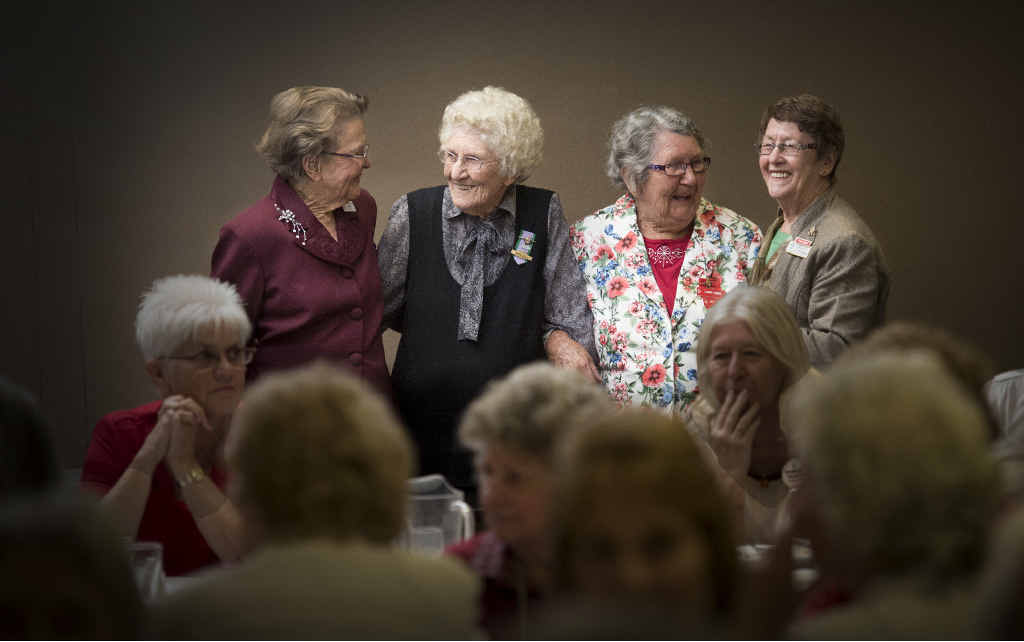 FRIENDSHIP: Diane Lee of Lower Clarence Laurel Club, June Bell of Grafton, Lorna Ewing of Ballina and Dorothy Olney of Palm Beach/Currumbin enjoy the Laurel Club friendship day hosted by the Grafton Club at the Grafton District Services Club.