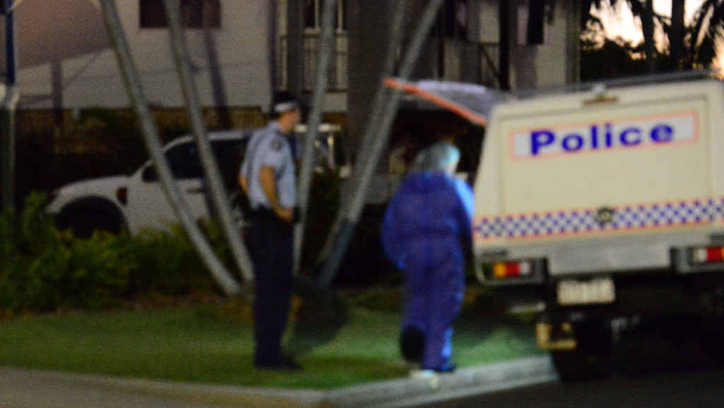THE SCENE: Police and forensic investigators at a home in Rockhampton's Norman Gardens carrying out an investigation in relation to the murder of Robert Martinez and Chantal Barnett.