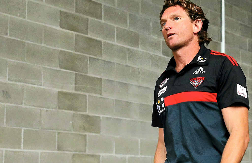 WRITING'S ON THE WALL: Essendon coach James Hird.