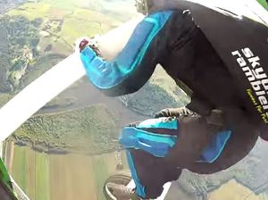 Stephen Pearce learns to skydive over the Sunshine Coast