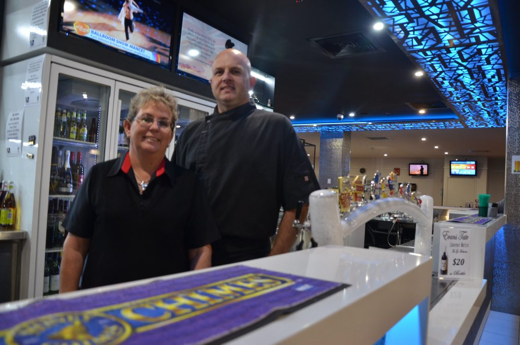 MAKE OVER: Secretary manager of the Stanthorpe RSL club Jean Hallas and head chef Glen Boston at the newly renovated bar.