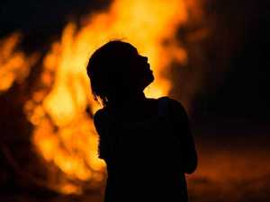 Boy, 4, rushed to hospital after falling into campfire