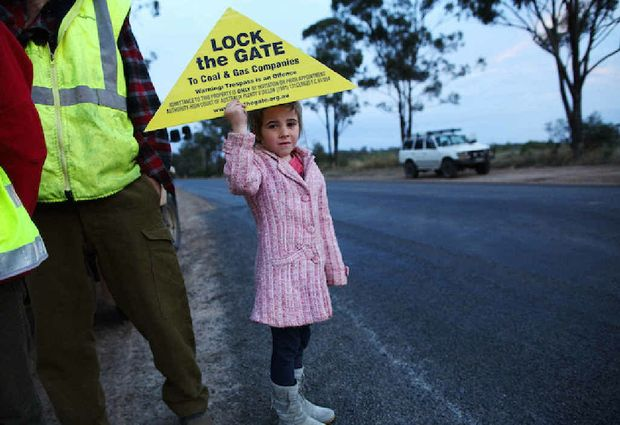 ON LOCATION: Anti coal seam gas mining protests around Tara in conjunction with the documentary film, Frackman, which centres on anti-CSG mining activist Dayne