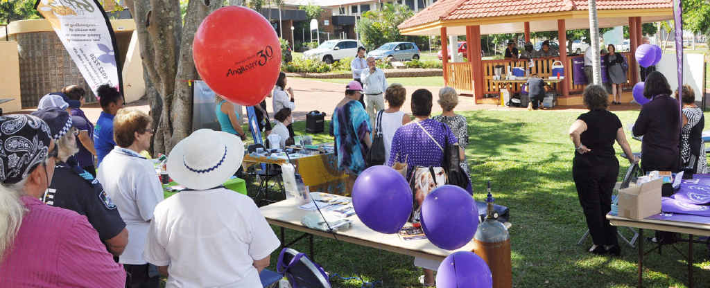 SPEAKING OUT: Livingstone Mayor Bill Ludwig opens the campaign at Beaman Park.