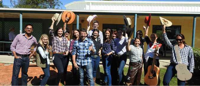 YEEHA: Livingstone Shire Council members get into Beef Australia 2015 spirit to raise money.