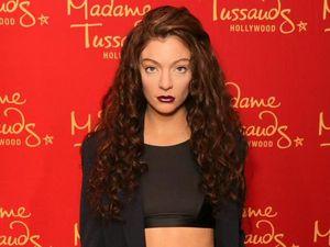 Lorde's super intense wax figure