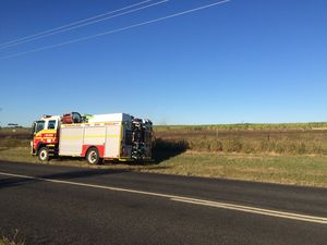 Crews battling fire near Bargara Rd