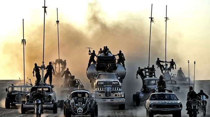 A scene from the movie Mad Max: Fury Road. Supplied by Warner Bros.