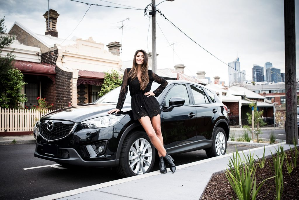 Pia Miller with her Mazda CX-5.