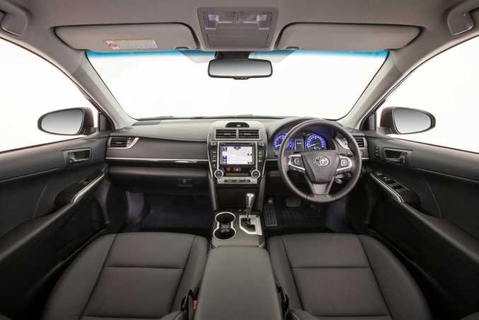 Interior of the 2015 Toyota Camry Atara SL.
