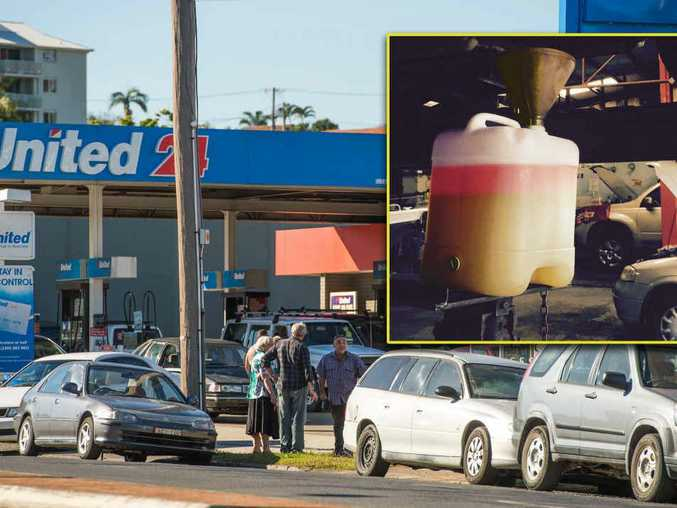 TRAFFIC STOPPER: E10 fuel containing water affected multiple cars that filled up at the Jetty United service station.