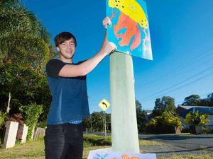 Art goes up ahead of beach fair