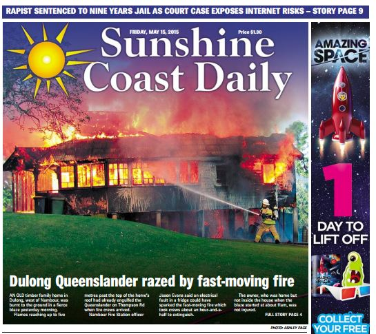 The Daily's coverage of the devastating house fire at Dulong May 15.