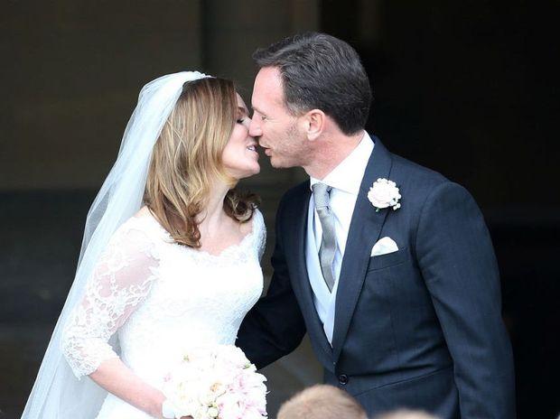Geri Halliwell and Christian Horner at their wedding