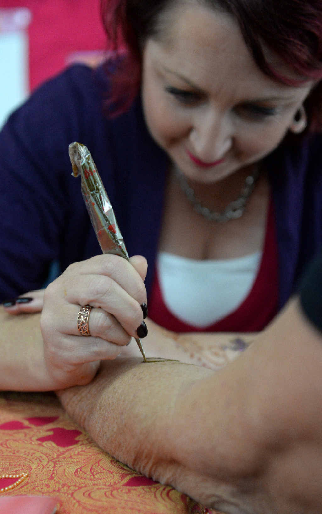 ANCIENT ART: Henna by Goddess M at the Sew What's Crafty Expo.