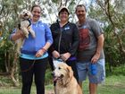 FURRY FRIENDS: April, Michelle and John Seiler with Alfie and Maverick join in the RSPCA Million Paws Walk, raising funds to fight animal cruelty.