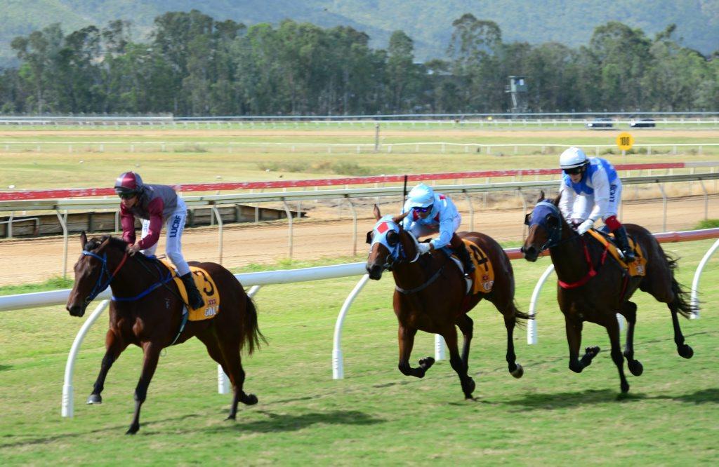 Jockey Nicole Vuille, on Ekkareeza, won the first (12.42pm) race at Callaghan Park Racecourse on Saturday, May 16 Photo Lisa Benoit / The Morning Bulletin