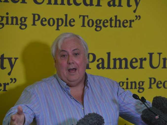 Clive Palmer at a press conference at Coolum. Photo: John McCutcheon / Sunshine Coast Daily