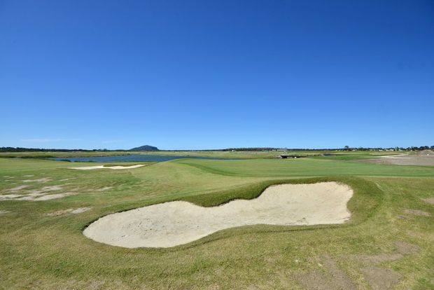 New Horton Park Golf Course in construction at Bli Bli, due to open in May 2015. Photo Patrick Woods / Sunshine Coast Daily