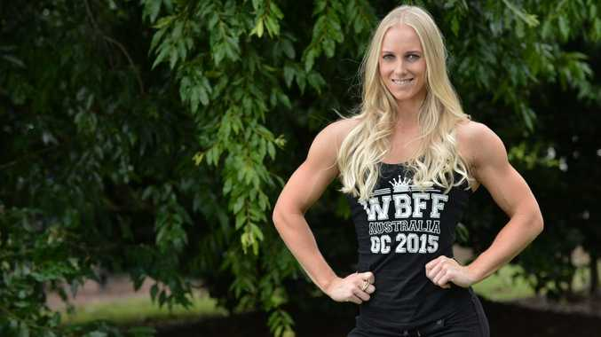 Jessica Croft of Little Mountain, 25, won a World Beauty Fitness Fashion title at the Gold Coast on the weekend and has been invited to compete at Las Vegas. Photo Patrick Woods / Sunshine Coast Daily