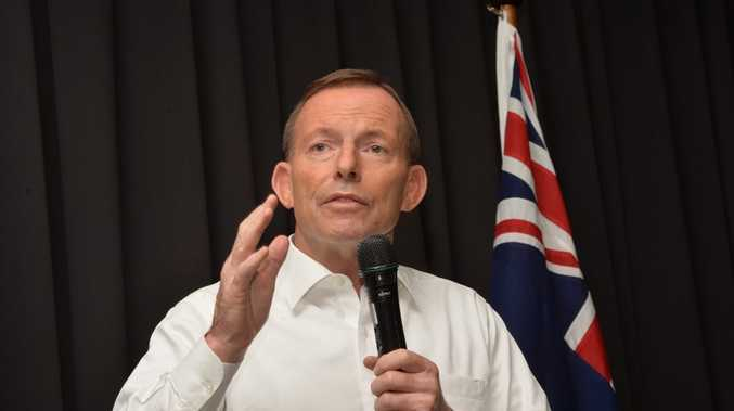 Prime Minister Tony Abbott on his visit to Mackay
