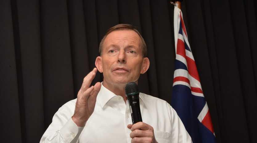 Prime Minister Tony Abbott on his visit to Mackay