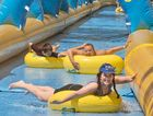 EXCITING SLIDE: A slip and slide similar to this one in Toowoomba will come to Hervey Bay in late 2015.
