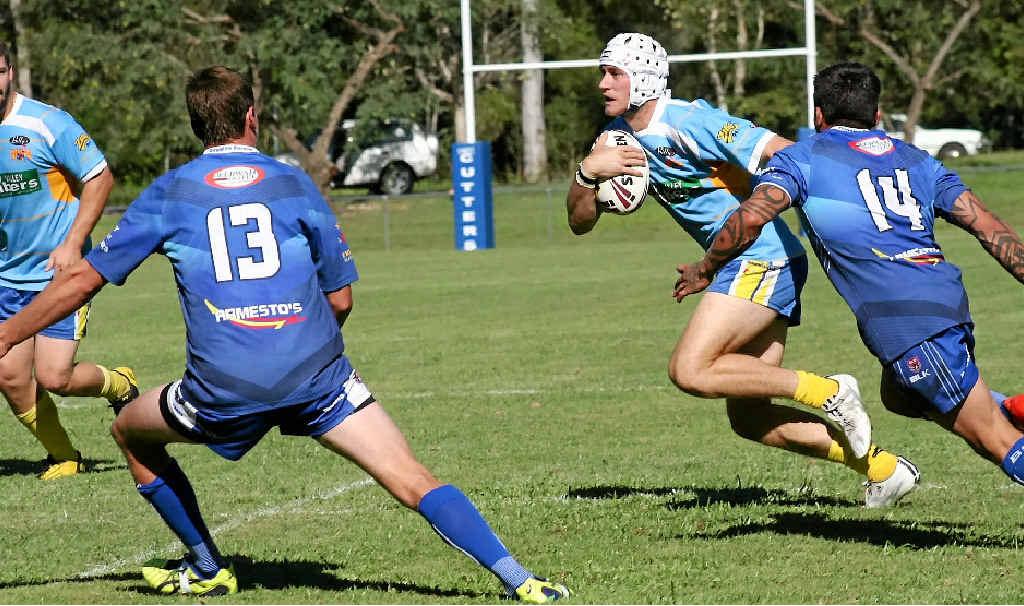 ON THE RUN: Kadison Millard looks for a gap in defence.
