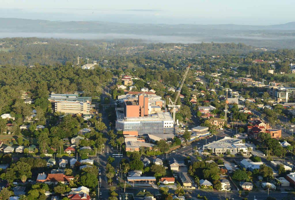 GROWING COMMUNITY: An aerial view of Ipswich, where 435,000 people are expected to be living by 2031.