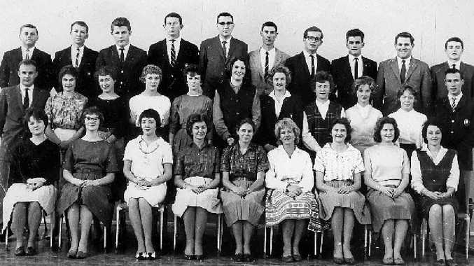 CLASS OF '62: Section 607 students at Alexander Mackie Teachers College, Paddington, included David Nelson (fifth from left, back row) and Gary Martin (second from right).