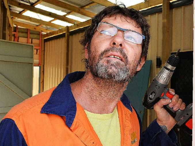 Tradie Scott Hayward is always careful not to create too much noise in the early hours.