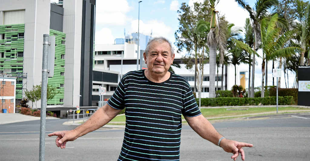 LIGHT BULB MOMENT: Henry Dicinoski is among hundreds with ideas about how to fix the Rockhampton Hospital's parking problems. He proposes a multi-storey overpass parking garage shared by both the Base and Hillcrest hospitals.