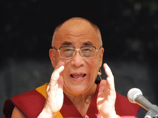 The Dalai Lama speaks to the crowd of 4000 at the Chenrezig Buddhist Institute, Eudlo. Warren Lynam / Sunshine Coast Daily