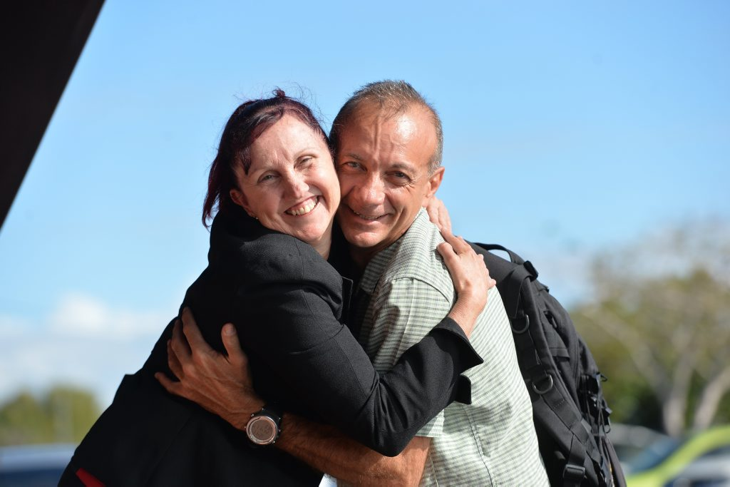 Frank Marchetti pictured with wife Sandy, in Mackay.