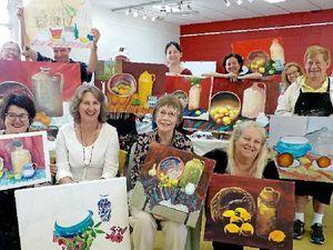 Artists brush up on skills