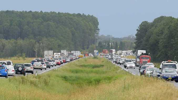 BAD COMBINATION: Traffic snarls on the Bruce Hwy and poor driver behaviour increase the frustration of many motorists.
