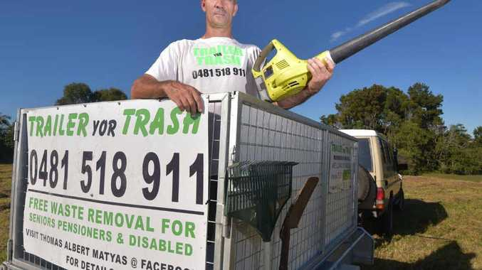 GLAD TO BE OF ASSISTANCE: Thomas Matyas offers free general and green waste removal to those who need it most – pensioners, the elderly and the disabled.