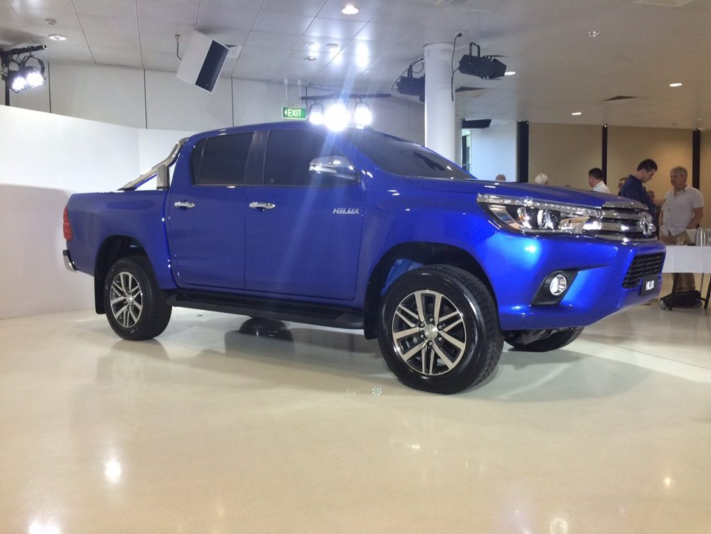 The 2016 Toyota HiLux unveiled at its Sydney launch