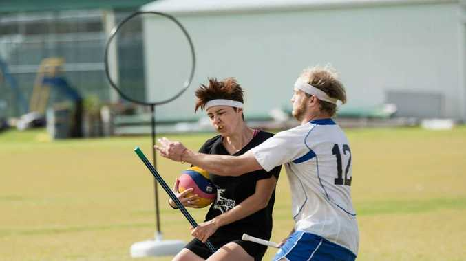 QUICK QUAFFLE: University of the Sunshine Coast's Quidditch team won silver at Australia's first official university Quidditch contest.