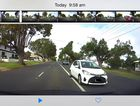 The Dash cam footage shows near miss on a Toowoomba road
